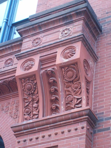 Gorgeous Terracotta Brackets on east side. Click for the day's album!