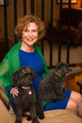 My mom Elaine and puppies Emma on the left and Bailey on the right