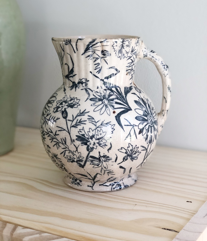 Blue Floral Motif Jug – SOLD